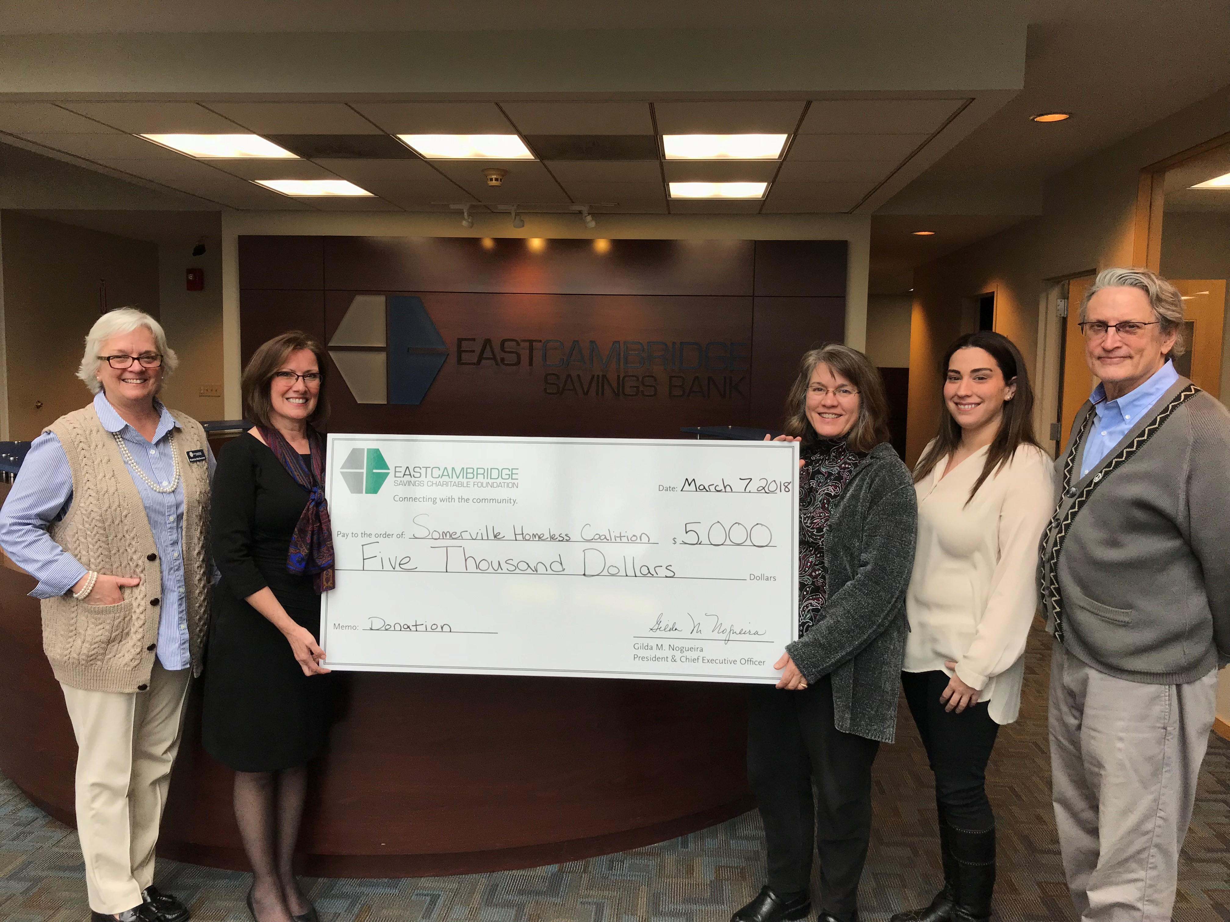 Somerville check presentation