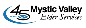Mystic Valley Elder Services 45th Anniversary Logo